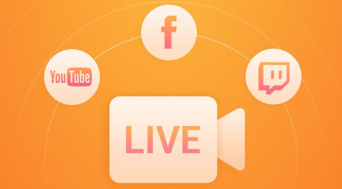 Du Recorde te permite transmitir en directo para Youtube, Facebook y Twitch